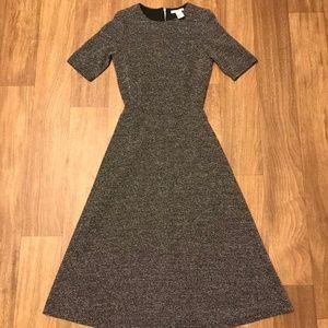 Charcoal Midi A Line Dress